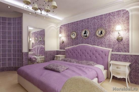 Дизайн сиреневой спальни — как внести уют и не переборщить с цветом